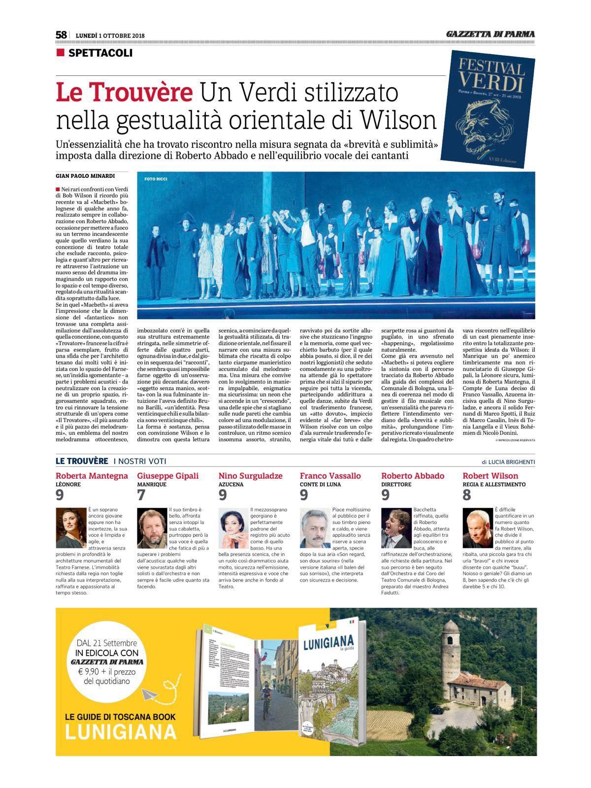 Review Il Travatore - Gazetta di Parma